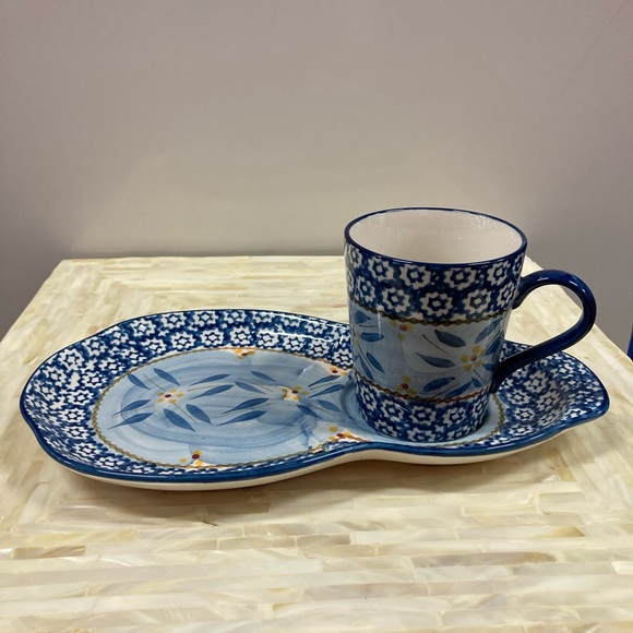 Temp Tations by Tara snack plate and cup